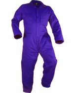Caution Poly Cotton Long Sleeve Zip Overall - Royal
