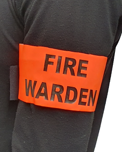 Fire Warden Arm Band with Velcro - Hi Vis Orange