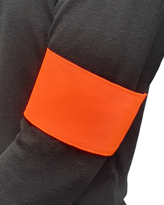 Blank Arm Band with Velcro - Hi Vis Orange