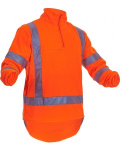 Caution Hi-Vis TTMC-W17 Polar Fleece 1/2 Zip Tunic - 380gsm