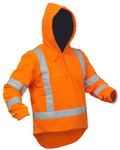Caution Hi-Vis TTMC-W17 X-Back Polar Fleece 1/2 Zip Hoodie - 380gsm