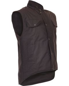 Caution Oilskin Sleeveless Vest - Brown