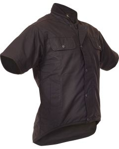 Caution Oilskin Short Sleeve Vest - Brown