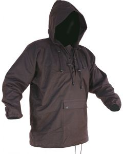 Caution Oilskin Long Sleeve Lace-up Parka - Brown
