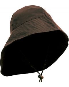Caution Oilskin Sou'wester Hat - Brown