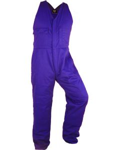 Caution Poly Cotton Easy Action Overall - Royal