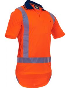 Caution Hi-Vis TTMC-W17 Short Sleeve Microfibre Polo
