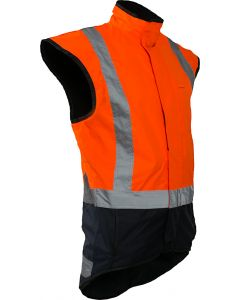 Caution StormPro D/N Fleece Lined Vest - Orange/Navy