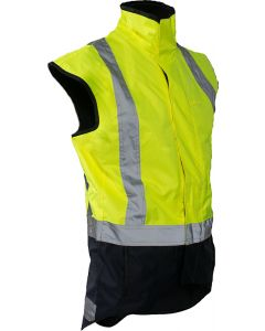 Caution StormPro D/N Fleece Lined Vest - Yellow/Navy