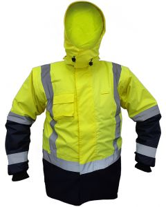 Caution StormPro D/N Zip-off Sleeve Fleece Lined Vest - Yellow/Navy