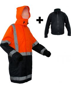 Caution StormPro D/N Fleece Lined Jacket - Orange/Navy