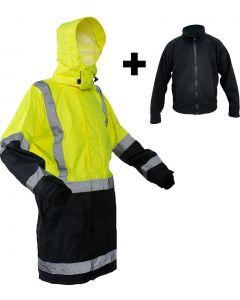 Caution StormPro D/N Fleece Lined Jacket - Yellow/Navy