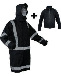 Caution StormPro Fleece Lined Jacket - Navy