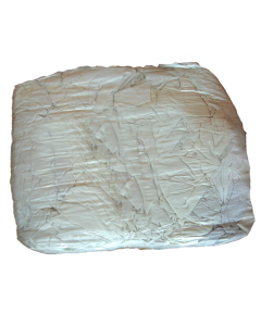 White 100% Cotton T-Shirt Rags - 10KG Bag