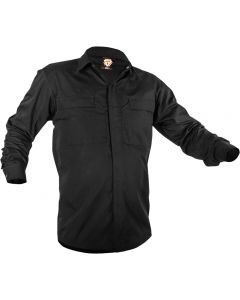 Caution Poly Cotton Long Sleeve Shirt - Black