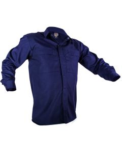 Caution Poly Cotton Long Sleeve Shirt - Navy