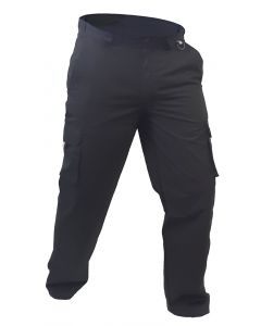 Caution Polycotton Ripstop Cargo Trousers - Black