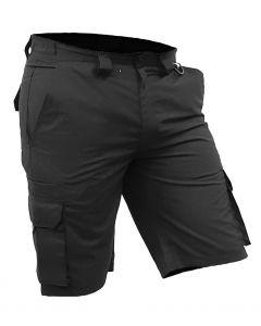 Caution Polycotton Ripstop Cargo Shorts - Black
