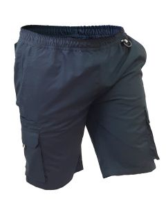 Caution Polycotton Ripstop Elastic Waist Cargo Shorts - Navy