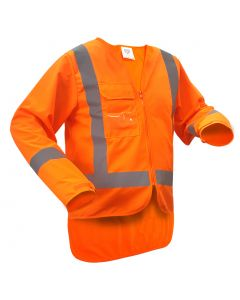 Caution TTMC-W17 Long Sleeve Safety Vest