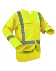 Caution D/N Long Sleeve Safety Vest