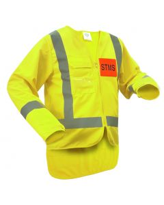Caution STMS Long Sleeve Safety Vest