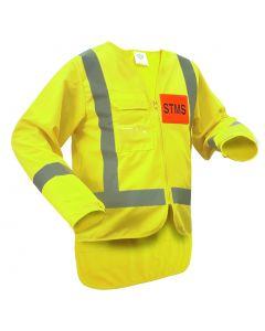 Caution STMS Long Sleeve Safety Vest