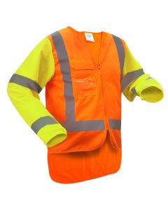 Caution MTC Long Sleeve Safety Vest